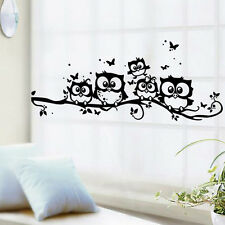 5Pcs Cartoon Owl Stickers muraux Décoration Autocollants Maison Salon mural Wall