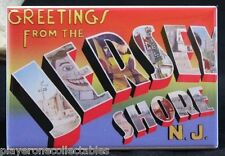 Greetings from The Jersey Shore Vintage Postcard - Fridge / Locker Magnet.
