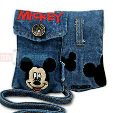 Disney Embroidered MICKEY Universal Jean Pouch Case for iPhone 5s 5 4 MP3 iPod