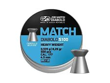 JSB MATCH DIABOLO S100 4.49 mm .177 500 pcs. heavy Air rifle Pellets AIR GUN