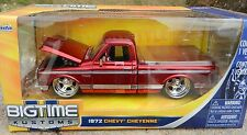 1:24 JADA TOYS *BIG TIME KUSTOMS* RED 1972 C-10 Cheyenne Pickup Truck *NIB*