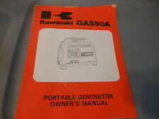 OEM Factory Kawasaki GA550A Portable Generator Owners Manual 15pgs 99920-2065-02