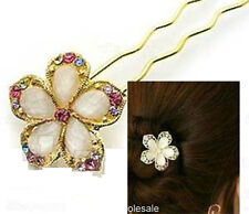 Fashion Nice Wedding Bridal Flower Crystal Hair Pins Clips Brid