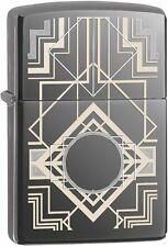 Zippo Windproof Black Ice Art Deco Design Lighter, 28950, New In box