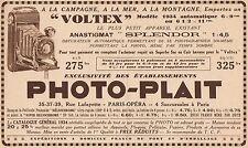 Y7085 PHOTO-PLAIT - Appareil Voltex - Pubblicità d'epoca - 1934 Old advertising