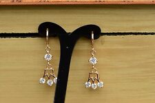 AamiraA 18K Gold Plated Crown Zircon AAA+ Designer Brass Earrings Dangles