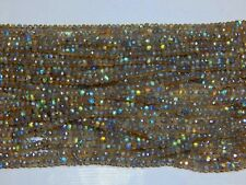 "3-4 MM NATURAL AAA LABRADORITE FACETED RONDELLE BEADS GEMSTONE 13"" STRAND GEMS"