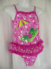 BNWT Girls Sz 3 Dorothy The Dinosaur Pretty Pink One Piece Swim Suit Bathers