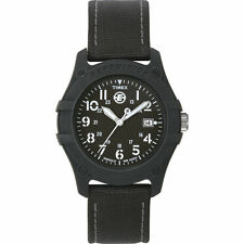 Timex T49689, Men's Expedition Black Nylon Strap Watch, Indiglo, Date T496899J