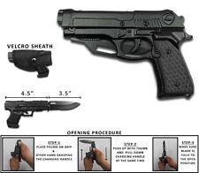 NEW Tactical Spring Assisted Pocket Knife Black Wood Holster Pistol Gun 1911