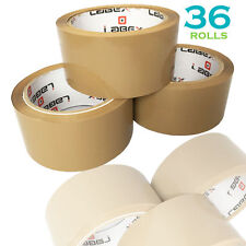 """36 Rolls Labex High Quality 2"""" Brown Packing Parcel Tape 48mmx66m CHEAP BARGAIN"""