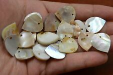 50 PCS LEAF MOTHER OF PEARL SHELL BLANK BEADS CHARMS 20MM #T-5