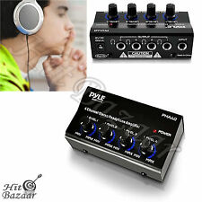 Headphone Amplifier Stereo Splitter Portable Amp 4 Channel Mini Pro Audio Mixer