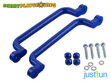 SWING Seat SET ACCESSORIES PLASTIC HANDGRIPS BLUE  PAIR  12X3 INCH JUST FUN