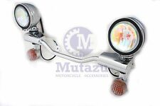 Metal Chrome Halogen Running Light Bar turn signals for Honda Shadow VLX 600 VT