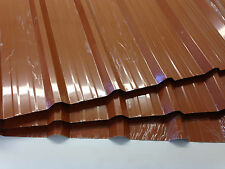 Box Profile Roof Sheets, Terracotta, 0.7mm Plastisol coated **We Manufacture**