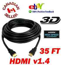 35 ft 10.7M HDMI 1.4 Cable M-Male LCD LED 3D DVD PS3 HDTV Hi Speed with Ethernet