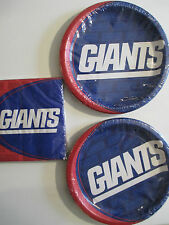 NEW YORK GIANTS NFL FOOTBALL Party Supplies Includes Plates & Napkins NEW !
