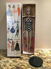Vintage Blond Ponytail Barbie #1 - with TM box, accessories, and display case