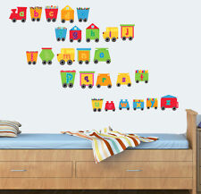 Childrens Alphabet Train - Pack of 26 - Wall Vinyl Stickers Engine Learning abc