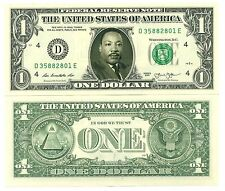 MARTIN LUTHER KING - VRAI BILLET 1 DOLLAR US! Série Droits civiques Non Violence