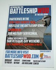 "RARE NEW 2014 First Battleship WOD at the USS Iowa Invitation San Pedro CA 5""x7"""