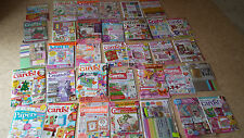 30+ Job lot Craft magazines Card Making Christmas Birthday Papercraft + FREEBIES