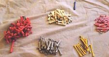 Lot Of 114 Vintage Perm Rollers Curlers Rods Assorted Sizes Colors Hair Styling