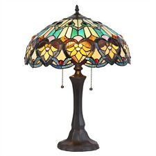 "CH35576GV16-TL2 Victorian Tiffany Style Stained Glass 2-Lt Table Lamp 16"" Shade"