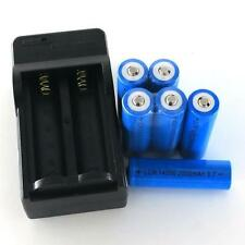6x 2000mAh 14500 Rechargeable Li-ion Battery For LED Flashlight CR123A Charger