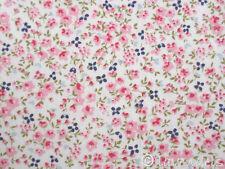 Stoff Baumwolle@Streublümchen blau rosa@Florencia Ökotex Blumen Blümchen