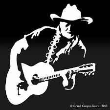 Willie Nelson Country Singer Songwriter Guitar Decal Sticker