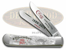 CASE XX 125th Anniversary White Pearl Trapper Stainless Pocket Knife Knives