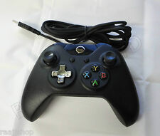 BLACK BRAND NEW USB WIRED CONTROLLER FOR MICROSOFT XBOX ONE PC WINDOWS UK SELLER