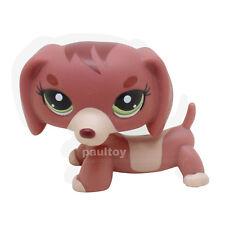 #3601 Littlest Pet Shop Dachshund Dog Puppy Green Eyes Figure Toy LPS