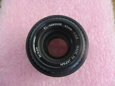 Nikon Model: El-Nikkor Lense.  63mm. 1:2.8.  Good Used Stock