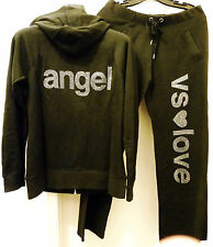 NIP Victoria's Secret Supermodel Essentials Bling Hoodie (M) Sweatpants (XS) Set