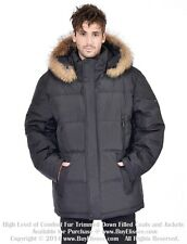 ~ Big Sz Goose Down Coat Jacket Parka w/ Raccoon sz 7XL EU 66  $795 Пуховик Енот