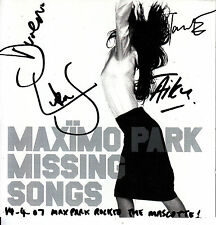 MAXIMO PARK Missing Songs 2005 UK 12-track SIGNED / AUTOGRAPHED CD + CoA