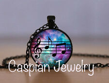Galaxy Musical Note Black Fashion Jewelry Pendant Necklace Top quality