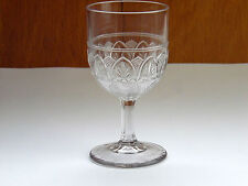 """EAPG Ionia Clear Glass Water Wine Goblet 5 3/4"""" Tall Antique"""