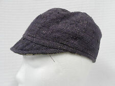*Squasht BOUTIQUE Purple NUBBY Bella FITTED Hat REVERSIBLE Tan FABRIC Cloth Sz S