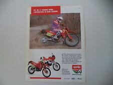 advertising Pubblicità 1989 MOTO APRILIA RX 50 e TUAREG WIND