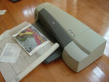 "HP DesignJet 100Plus, 24"" Plotter/Large-Format Inkjet Printer GOOD! +NEW Ink"