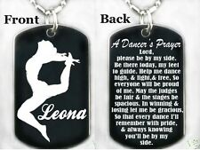 A DANCER'S PRAYER Dog tag Necklace/Keychain + FREE PERSONALIZATION