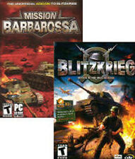 BLITZKRIEG Attack Defence & RARE Mission Barbarossa - 2x PC Strategy Games NEW!!