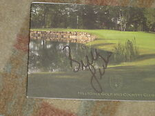 Brittney Lincicome 2011 Canadian Open Signed Hillsdale Golf & CC Scorecard COA