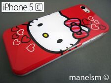 Funda Carcasa dura para iphone 5C Hello Kitty Roja