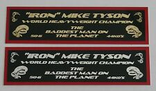 """IRON"" MIKE TYSON COLOR NAMEPLATE FOR SIGNED TRUNKS GLOVE PHOTO DISPLAY CASE"