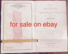 Property sale brochure & plan 1916 Grove Road Weir Road Clapham, Wolfdene House